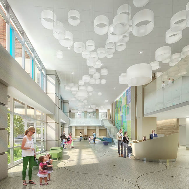 Main Entrance Rendering of the Shawn Jenkins Children's Hospital