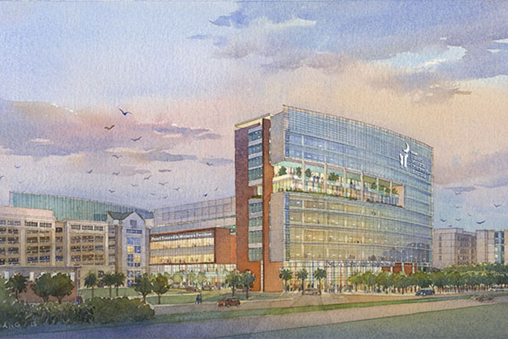 MUSC Shawn Jenkins Children's Hospital and Pearl Tourville Women's Pavilion rendering