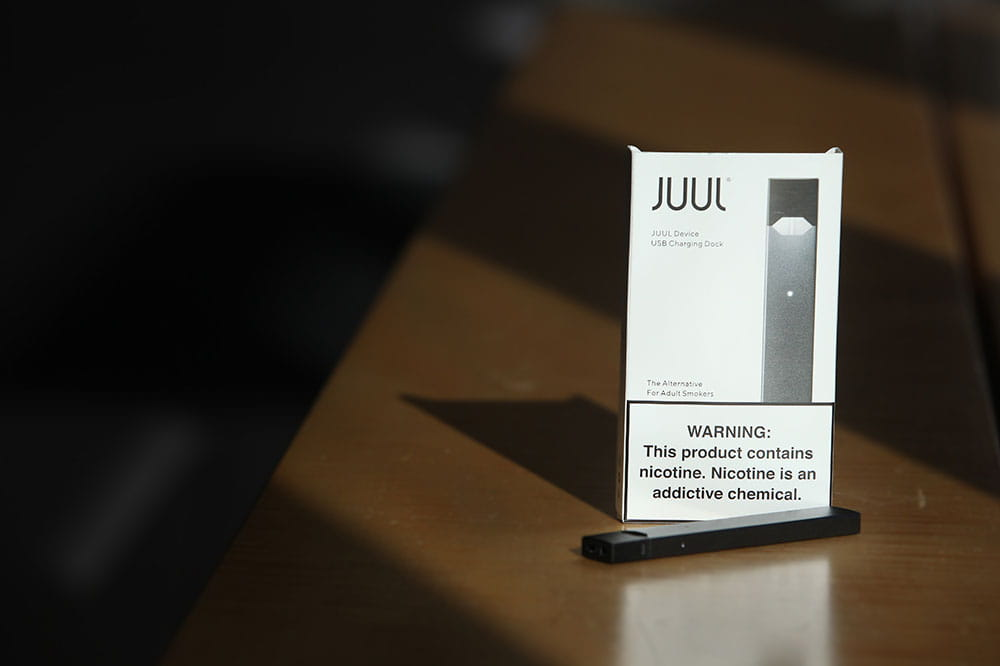 Package of Juul e-cigarettes
