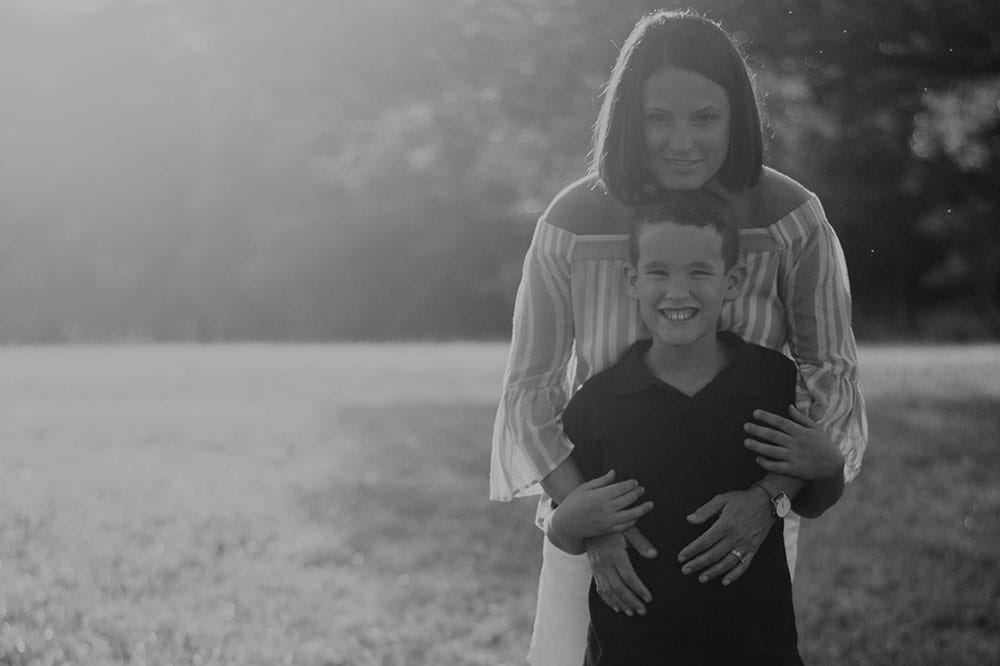 Mother and son who has fragile X syndrome