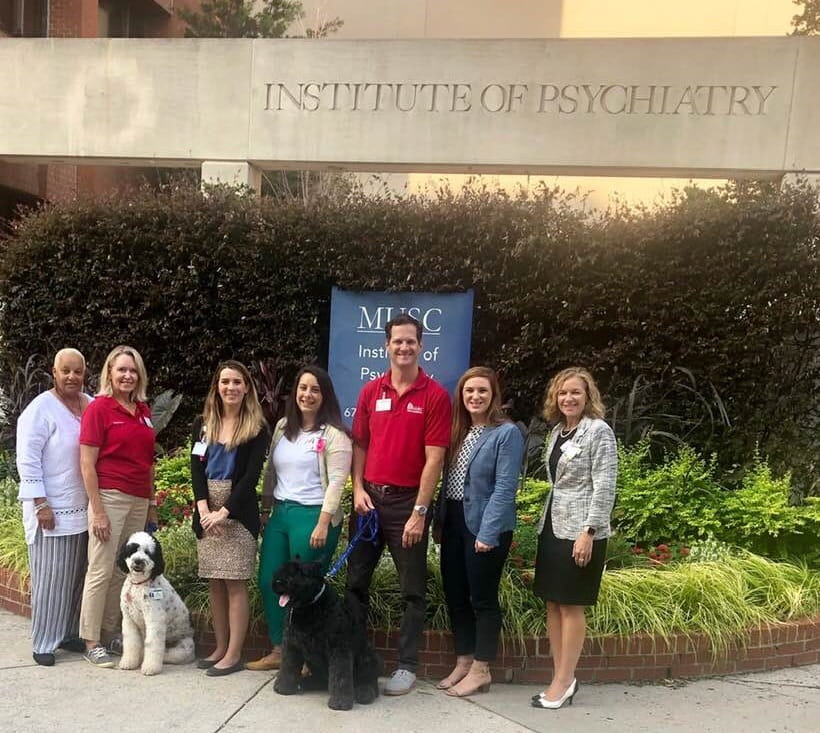 Team that studied how pet therapy affected pediatric care at the Institute of Psychiatry