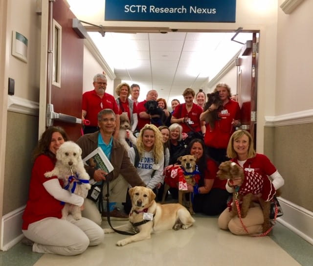 SCTR's Research Nexus throws Valentine's Brunch for pet therapy