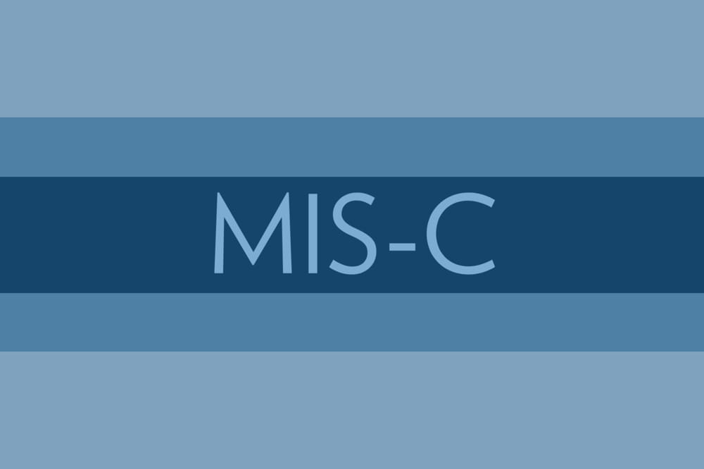 graphic in MUSC colors with the word MIS-C